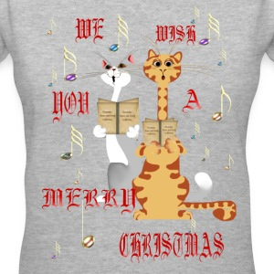 We Wish You A Merry Christmas - Women's V-Neck T-Shirt