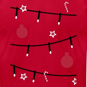 Aqua Christmas tree decorations T-Shirts - Men's T-Shirt by American Apparel