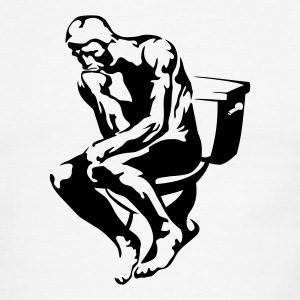 The Thinker - Men's Ringer T-Shirt