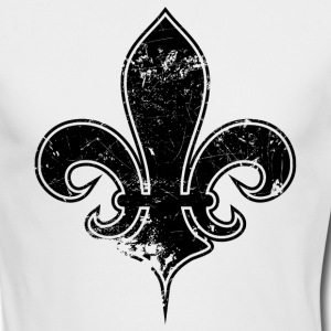 White fleur de lis destroyed Long Sleeve Shirts - Men's Long Sleeve T-Shirt by Next Level