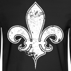 Black fleur de white Long Sleeve Shirts - Men's Long Sleeve T-Shirt
