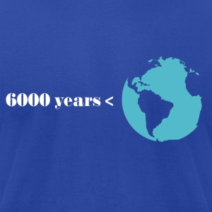 Royal blue Earth is Greater than 6000 Years T-Shirts - Men's T-Shirt by American Apparel