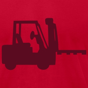 Eggplant Forklift T-Shirts - Men's T-Shirt by American Apparel