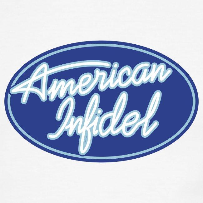 American Infidel Logo Ringer Tee