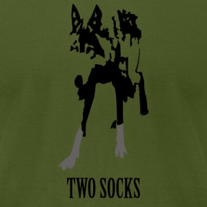Two Socks - Men's T-Shirt by American Apparel