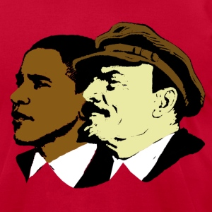 Red Obama & Lenin Socialists T-Shirts - Men's T-Shirt by American Apparel