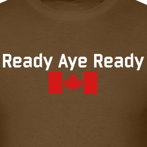 Brown Read Aye Ready T-Shirts - Men's T-Shirt