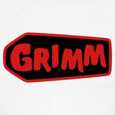 Chocolate/tan grimm with red type and coffin T-Shirts