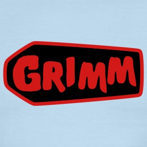 Chocolate/tan grimm with red type and coffin T-Shirts - Men's Ringer T-Shirt