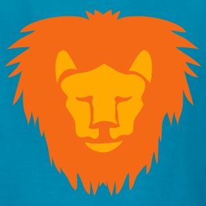 Yellow lion orange face with frown Kids' Shirts - Kids' T-Shirt