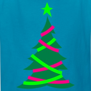 Yellow christmas tree with hanging banners Kids' Shirts - Kids' T-Shirt