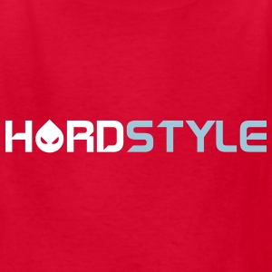 Red Hardstyle Smiley Text Kids' Shirts - Kids' T-Shirt