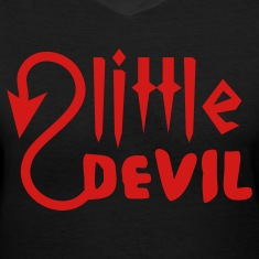Black little devil Women's T-Shirts