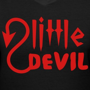 Black little devil Women's T-Shirts - Women's V-Neck T-Shirt