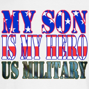 White MY SON IS MY HERO US MILITARY Long Sleeve Shirts - Men's Long Sleeve T-Shirt