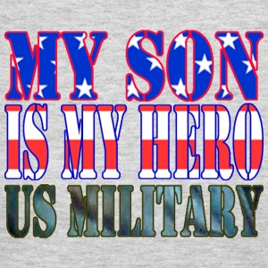 Gray MY SON IS MY HERO US MILITARY Long Sleeve Shirts - Women's Long Sleeve Jersey T-Shirt