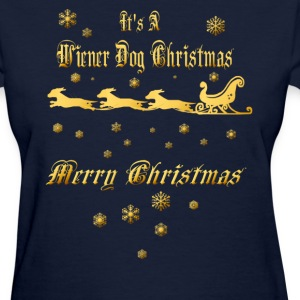 It's A Wiener Dog Christmas - Women's T-Shirt