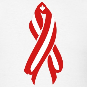 White Canada Ribbon T-Shirts - Men's T-Shirt