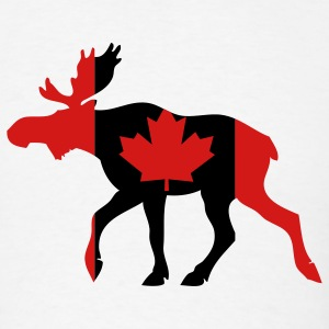 White Canadian Moose T-Shirts - Men's T-Shirt