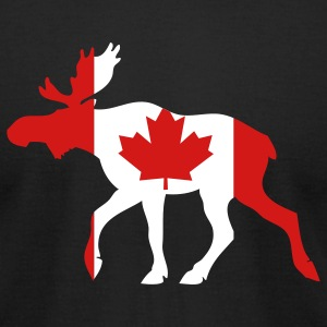 Black Canadian Moose T-Shirts - Men's T-Shirt by American Apparel