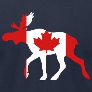 Navy Canadian Moose T-Shirts - Men's T-Shirt by American Apparel