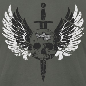 Asphalt Sword in the Winged Skull  T-Shirts - Men's T-Shirt by American Apparel