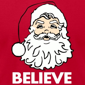 Red I Believe in Santa Claus T-Shirts - Men's T-Shirt by American Apparel