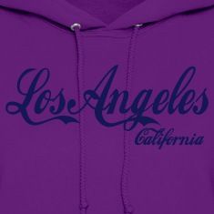 Light pink los angeles california Hoodies