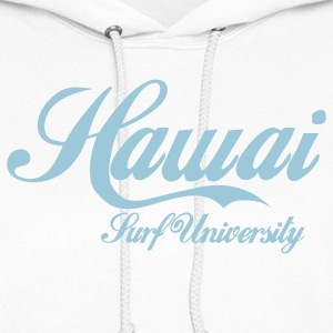 White hawai surf university Hoodies - Women's Hoodie