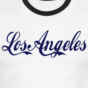 White/navy los angeles T-Shirts - Men's Ringer T-Shirt