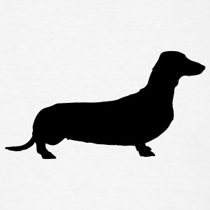 White weiner dog T-Shirts - Men's T-Shirt