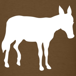 Brown donkey T-Shirts - Men's T-Shirt