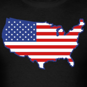Black Flag USA Map T-Shirts - Men's T-Shirt