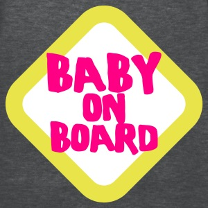 Deep heather baby on board sign  - Women's T-Shirt