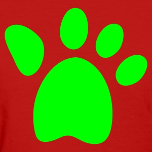 Red big bears cats paw Women's T-Shirts - Women's T-Shirt