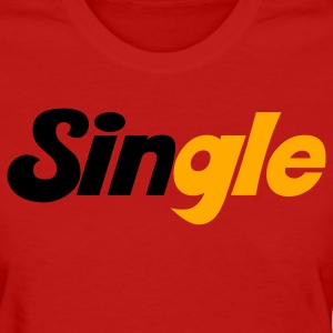 Red single with sin highlighted Women's T-Shirts - Women's T-Shirt