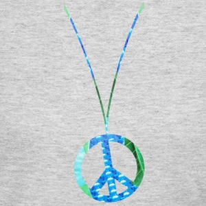 Gray PEACE SIGN NECKLACE Long Sleeve Shirts - Women's Long Sleeve Jersey T-Shirt
