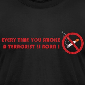 Black Don't smoke T-Shirts - Men's T-Shirt by American Apparel