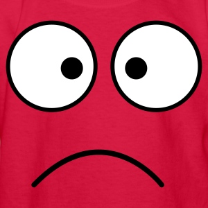 Red crazy face eyes together frown Kids' Shirts - Kids' Long Sleeve T-Shirt