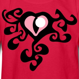 Red cats eye with trendy funky swirls Kids' Shirts - Kids' Long Sleeve T-Shirt