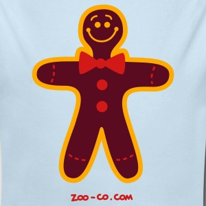 Powder blue Christmas Cookie Man Baby Body - Long Sleeve Baby Bodysuit