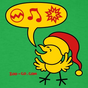 Bright green Christmas Chicken making a Wish T-Shirts - Men's T-Shirt
