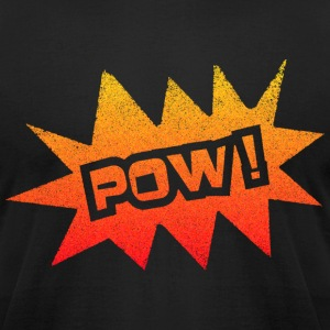 Black POW T-Shirts - Men's T-Shirt by American Apparel