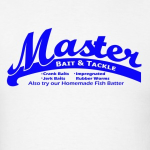 White Master Bait & Tackle T-Shirts - Men's T-Shirt