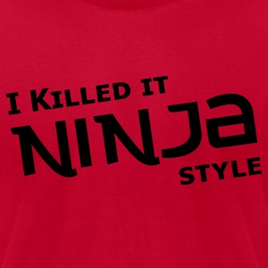 Red Ninja Style T-Shirts - Men's T-Shirt by American Apparel
