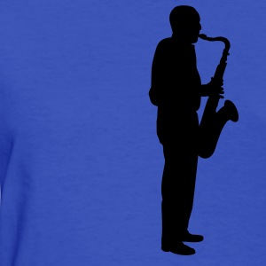 Light blue sax player Women's T-Shirts - Women's T-Shirt