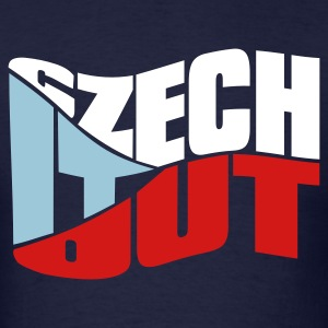 Navy czech it out T-Shirts - Men's T-Shirt