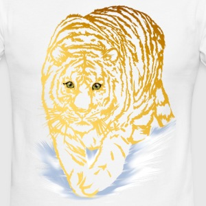 Golden Snow Tiger - Men's Ringer T-Shirt