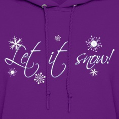 Light pink Let it Snow! Hoodies