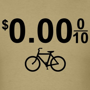 $0.00 Bicycle Bike Green 1c - Men's T-Shirt